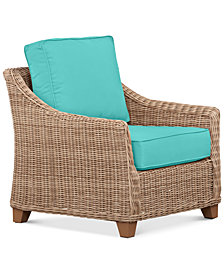 Willough Outdoor Club Chair Replacement Sunbrella® Cushion, Quick Ship