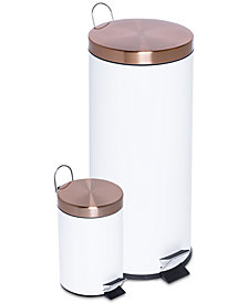 Honey Can Do 2-Pc. Round Soft-Close Combination Trash Can Set