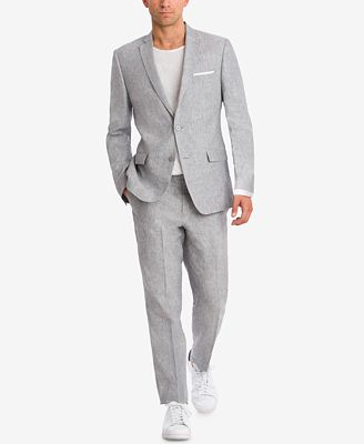 Bar Iii Light Gray Chambray Suit Separates Created For Macy S