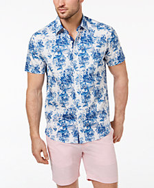 Con.Struct Men's Slim-Fit Stretch Exploded Floral-Print Shirt, Created for Macy's