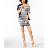 Tommy Hilfiger Off-The-Shoulder Shift Dress Deals