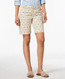 Tommy Hilfiger Anchor-Print Bermuda Shorts, Created for Macy's