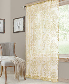 "Elrene Valentina 52"" x 84"" Sheer Jacquard Rod Pocket Curtain Panel"