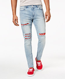 Jaywalker Men's Destructed Slim-Fit Denim Jeans