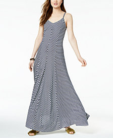 I.N.C. Striped Sleeveless Maxi Dress, Created for Macy's