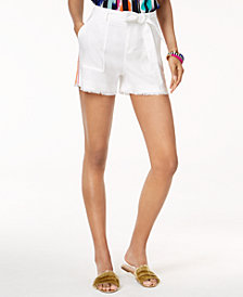Trina Turk x I.N.C. Linen Blend Belted Shorts, Created for Macy's