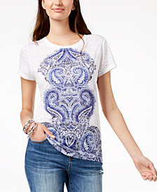 I.N.C. Sequined Graphic T-Shirt, Created for Macy's