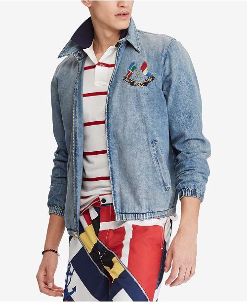 e7d3881b1b7244 Polo Ralph Lauren Men s Embroidered Denim Jacket   Reviews ...