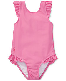 Ralph Lauren Ruffled One-Piece Swimsuit, Baby Girls