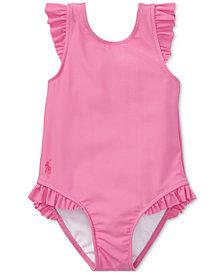Ralph Lauren Ruffled One-Piece Swimsuit, Baby Girls