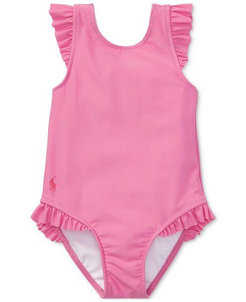 5f9cc248e20fb ... Polo Ralph Lauren Ralph Lauren Ruffled One-Piece Swimsuit, Baby Girls  ...