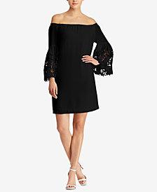 Lauren Ralph Lauren Bell-Sleeve Crepe Dress