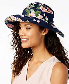 I.N.C. Floral-Print Floppy Hat, Created for Macy's