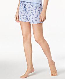 Ande Whisperluxe Tassel-Drawstring Printed Pajama Shorts
