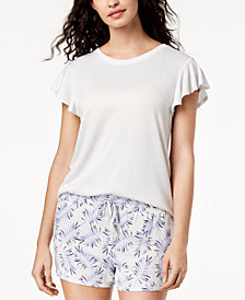 Ande Whisperluxe Flutter-Sleeve Pajama Top