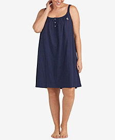 Lauren Ralph Lauren Seaside Classic Knits Plus Size Printed Nightgown