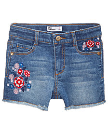 Epic Threads Little Girls Embroidered Denim Shorts, Created for Macy's