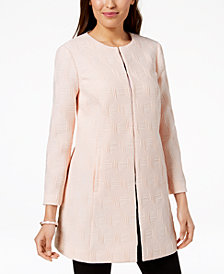 Alfani Textured A-Line Jacket, Created for Macy's