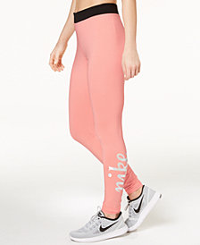 Nike Sportswear High-Rise Metallic-Logo Leggings