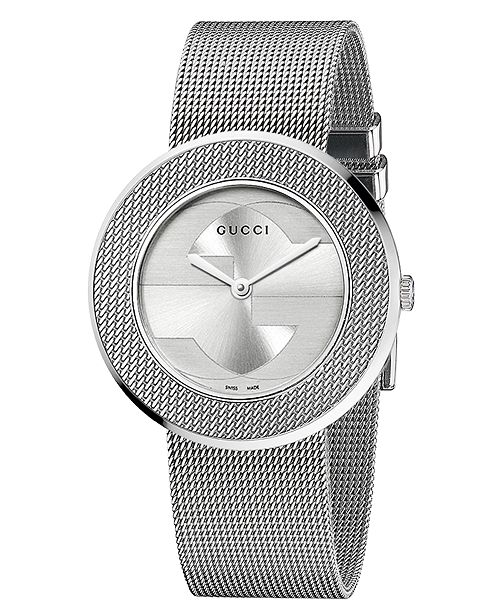 c3c4128e9f2 ... Gucci Women s Swiss U-Play Stainless Steel Mesh Strap Watch 35mm  YA129407 ...