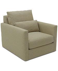 Elmie 37'' Fabric Swivel Chair, Created for Macy's