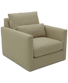 Elmie 37'' Fabric Swivel Chair, Created for Macy's