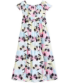 Epic Threads Smocked-Bodice Slit Printed Maxi Dress, Big Girls, Created for Macy's