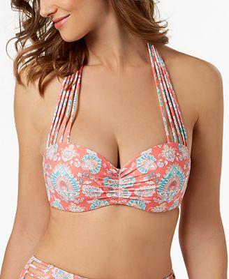 d08bdb80f9 Coco Reef Bra-Size Underwire Five-Way Strappy Bikini Top - Swimwear - Women  - Macy s