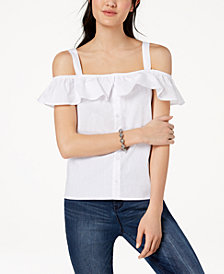 Ultra Flirt by Ikeddi Juniors' Off-The-Shoulder Blouse