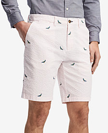 "Tommy Hilfiger Men's Seersucker Bird 9"" Shorts, Created for Macy's"