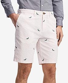"Tommy Hilfiger Men's Seersucker Bird 9"" Shorts, Created for Macy's"