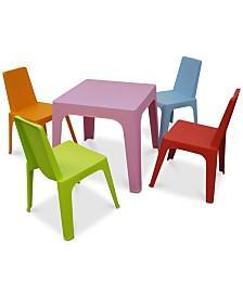 Julieta Kids 5-Pc. Dining Set, Quick Ship
