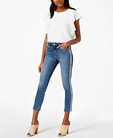 Joe's Jeans The Icon Crop Tuxedo-Stripe Jeans