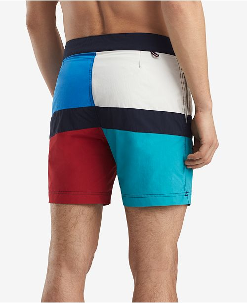 11c1e2bb48 Tommy Hilfiger Men's Maison Colorblocked 6.5'' Board Shorts, Created ...