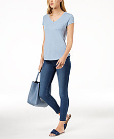 Maison Jules V-Neck T-Shirt & Skinny Jeans, Created for Macy's