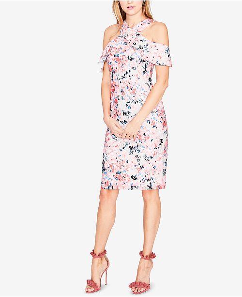 Rachel Roy Discount Gowns: RACHEL Rachel Roy Cold-Shoulder Floral Lace Dress