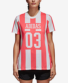 adidas Originals Cotton Striped T-Shirt
