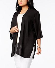 NY Collection Plus Size Kimono
