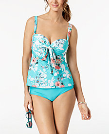 Coco Reef Bra-Sized Underwire Convertible Tankini Top & Hipster Bottoms