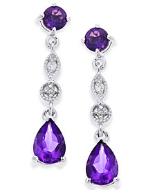 Amethyst (1-3/4 ct. t.w.) & Diamond Accent Drop Earrings in 14k White Gold