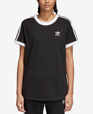 Adicolor Cotton Three Stripes T Shirt by Adidas Originals
