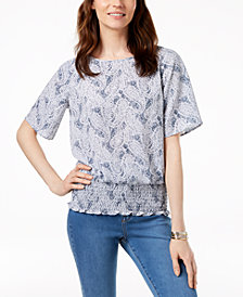 MICHAEL Michael Kors Paisley-Print Kimono Top in Regular & Petite Sizes