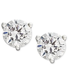 Certified Near Colorless Diamond Stud Earrings in 18k White  or Yellow Gold (1/4-1-1/4 ct. t.w.)