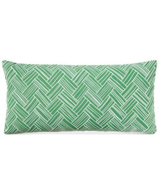 "Embroidered Basket 110-Thread Count 12"" x 24"" Decorative Pillow, Created for Macy's"