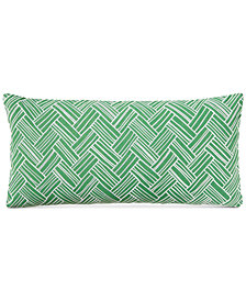 "Charter Club Damask Designs Embroidered Basket 110-Thread Count 12"" x 24"" Decorative Pillow, Created for Macy's"