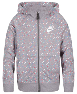 Nike Dot-Print Zip-Up...