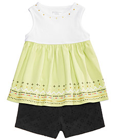 First Impressions Baby Girls Printed Tunic & Shorts Separates, Created for Macy's