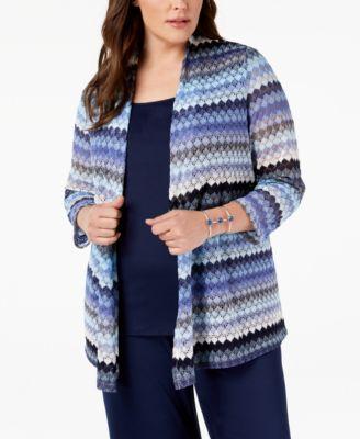 Plus Size Lace Cardigan