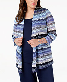 Kasper Plus Size Lace Cardigan