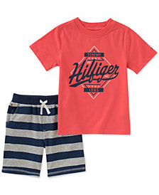 Tommy Hilfiger Baby Boys 2-Pc. Graphic-Print T-Shirt & Shorts Set